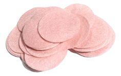 "1.5"" light pink felt circles / 25-50 pieces"