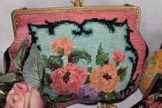 Vintage Needlepoint Handbag/Evening Bag by LookBackinVintage2