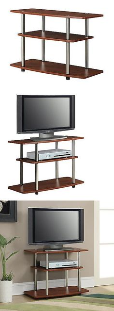 Entertainment Units TV Stands: Tv Stand Entertainment Home Media Center  Furniture Console Storage Wood Cabinet BUY IT NOW ONLY: $69.99 | Pinterest  | Tv ...