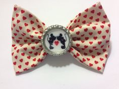 Minnie & Mickey Love Bow by SamiBowtique on Etsy