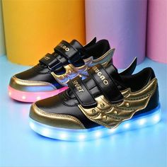 630bf7278 Children Shoes With Led Kids Light Up Shoes Chaussure Lumineuse Enfant USB  Charging Light Up Sneakers