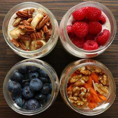 Overnight Oats 4 Ways by Tasty