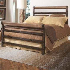 Largo Fargo Metal Wood Headboard and Footboard $450.27