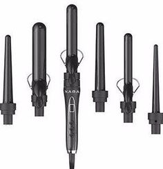 XARA 6 IN 1 CURLING IRON SET Professional ceramic ionic technology w/ Spring and Wand option >>> Check this awesome product by going to the link at the image. (This is an affiliate link) Good Curling Irons, Hair Crimper, Hair Without Heat, Hair Iron, Bouncy Curls, Hair Tools, Beauty Essentials, Old Things, Things To Sell