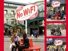 """Campanha """"Zona Livre de Wi-fi"""", do Kit Kat, em Amsterdam"""