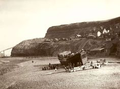 The Russian ship - grounded on Collier's Hope, Whitby Oct 1885 - inspiration for Stoker's 'Dracula'. Photo by Frank Meadow Sutcliffe Whitby England, Yorkshire England, North Yorkshire, Moon Rise, Seaside Towns, Fishing Villages, Vintage Photographs, Old Pictures, Monument Valley