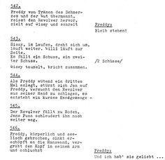 """Drehbuchauszug des Films """"Die Halbstarken""""!"""