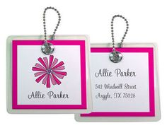 Personalized Just Daisy ID Bag Tags