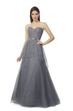 5b14604ef7fb Liancarlo - Style 3346 Spring 2014 (Italian embroidered tulle over sequins  strapless tiered gown in Gray)