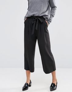 Image 4 of ASOS Tailored Culotte with Tie Waist