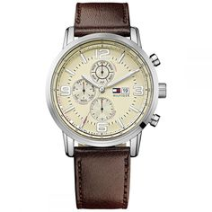 Tommy Hilfiger TH Classics Gabe All Brown Gents Watches, Sport Watches, Watches For Men, Tommy Hilfiger Watches, Chronograph, Brown Leather, Jewelry Watches, Quartz, Beige