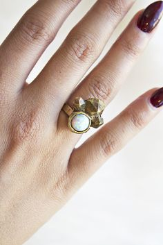 Opal Cluster Ring- that brass and opal combo has me obsessed.