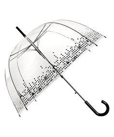 14.99 Love this Clear & Black Paris Birdcage Umbrella by Le Monde du Parapluie on #zulily! #zulilyfinds