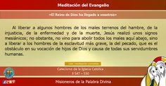 """MISIONEROS DE LA PALABRA DIVINA: MEDITACIÓN DEL EVANGELIO - """"El Reino de Dios ha ll..."""