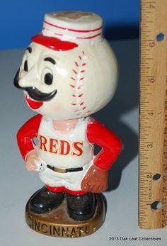 Mr. Red Cincinnati Reds Baseball Mascot Nodder Bobble Head Redlegs 60s