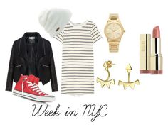 """""""Week in NYC #2"""" by chere-nobler on Polyvore featuring Zizzi, Clu, Converse, Coal, Michael Kors, Bling Jewelry and Milani"""
