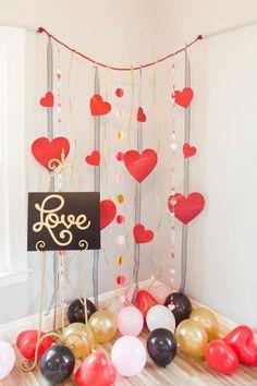 Ideas e inspiración para decorar tu hogar en San Valentín. Fotografías de románticos rincones, proyectos decorativos que puedes hacer tú mism@