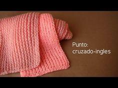 Punto colmillo tejido en dos agujas creado por Samuel García - YouTube