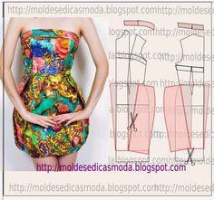 Moldes Moda por Medida: TRANSFORMAÇÃO DE VESTIDO-157