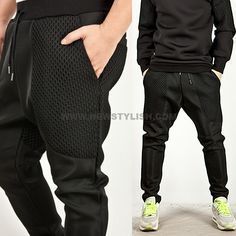 ★SOLD-OUT★ Check Contrast Neoprene Sweatpants - 71 - NSIE NewStylish