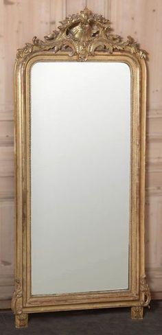 Gilded full length mirror