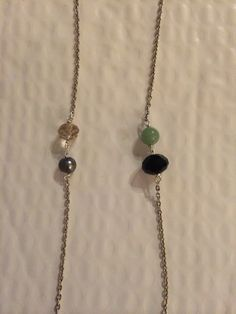 Chain #26 The Brooke!  jade, pearl, and swarovski crystal on a silver chain. #YbyHY