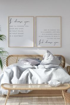 I Choose You Print Set | I'd Choose You Over and Over | Bedroom Wall Decor | Love You More Love You Most | Wedding gift | Above Bed Prints Artwork Above Bed, Bedroom Wall Decor Above Bed, Bedroom Artwork, Bedroom Themes, Bedroom Decor, Master Bedroom, Bedroom Ideas, Bedrooms, Modern Bedroom