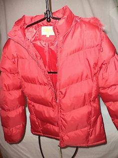 Land's End Red Winter Hooded Jacket Girls XL 20% Down New #Everyday #PufferJacket