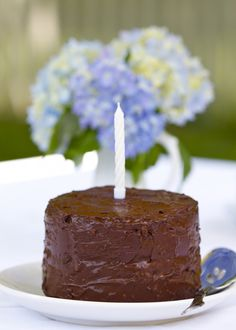 Paleo Chocolate Cake and Coconut Honey Frosting.  Best cake I have ever had, and completely guilt free! @ Paleo Spirit