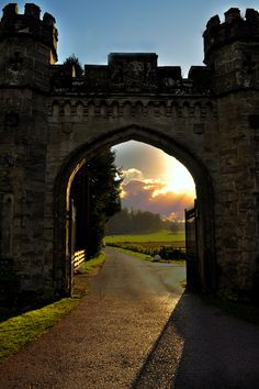 Castle gate, Scotland…