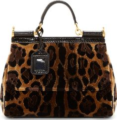 f4410e14496f Dolce   Gabbana for Women SS18 Collection. Structured BagLeopard PrintsCheetahShoulder  StrapSicilyBlack ...