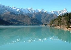 Lake Barcis, Italy  We used to go swimming there and jump off of a bridge, oh that water was cold!  :)