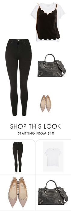 """""""2nd realThursday"""" by pvzhang on Polyvore featuring Topshop, Monki, Valentino and Balenciaga"""
