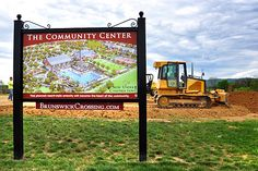 Site grading for the Community Center begins at Brunswick Crossing, a planned community in Brunswick, Maryland by Brunswick Crossing, via Flickr