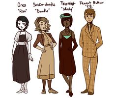 pretty rad & pretty sad — And there you have it. The main cast of Cookies...