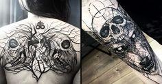 20 Excellent Blackwork Tattoos By Fredao Oliveira