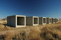 Donald Judd 15 untitled works in concrete detail Chinati Foundation, Marfa, Texas artnet Magazine Portland Architecture, Art Et Architecture, Frank Stella, Concrete Sculpture, Sculpture Art, Land Art, Robert Morris, Centre Pompidou Paris, To Infinity And Beyond
