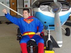 Skydiving Superman!