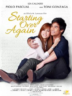 Starting Over Again is a Filipino romantic comedy film directed by Olivia M. Lamasan, starring Piolo Pascual and Toni Gonzaga. Movies 2014, Hd Movies, Movies And Tv Shows, Movie Tv, Movie Blog, Movies Free, Movie List, Pinoy Movies, Starting Over Again