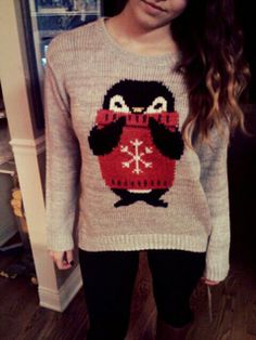 penguin sweater // so cute