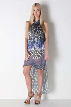 Wow... beautiful abstraction  Cactus Pear Drape Dress in Multi Colored by MANNiNG CARTELL for $569.00