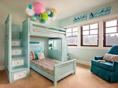 Little girls bedroom inspiration! #storage #space #AmericanDreamSOD @Garrison Hullinger Interior Design