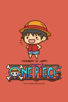 One piece chibi art Monkey D. Luffy