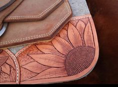 Tooled Leather, Sunflower, Custom, Custom Pad, Best Ever Pads, Barrel Racing, Team Roping, Rodeo, PRCA, WPRA, Pro Rodeo, Saddle Pad, Western Tooled Leather, Leather Tooling, Pro Rodeo, Western Horse Tack, Saddle Pads, Barrel Racing, Racing Team, Westerns, Horses