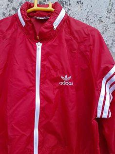 Vintage Adidas Windbreaker Sportswear Three Stripes Jacket Striped Jacket, Vintage Adidas, Sportswear, Windbreaker, Stripes, My Style, Fitness, Jackets, Outfits