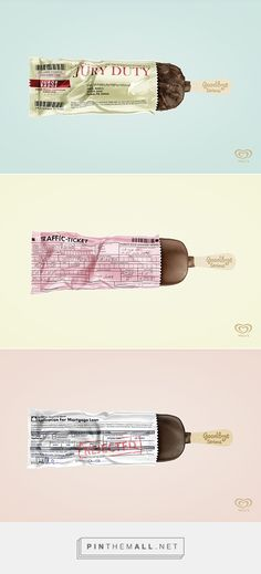 Goodbye Serious fun ad packaging on Behance by Juan Davila Morris curated by Packaging Diva PD. Wall's global strategy is simple: Say goodbye to everything serious : )