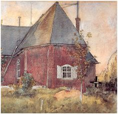 Old Sundborn Church - Carl Larsson Artist: Carl Larsson Completion Date: Place of Creation: Sweden Style: Art Nouveau (Modern) Series: A Home Carl Larsson, Banksy, Art Watercolor, Swedish Style, Swedish Decor, Scandinavian Art, Arts And Crafts Movement, Large Painting, Museum Of Fine Arts
