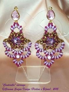 Cinderella earrings ©Simona Svezia Design (Perline e Bijoux) Tutorial available on my Etsy shop, at this link: https://www.etsy.com/it/shop/PerlineeBijoux