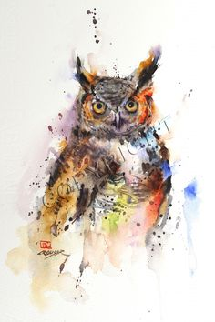 GREAT HORNED OWL - Crouser Fine Art Store