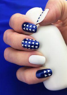 "Nail Stencils design ""Triangle"" by Unail $5 #nails #nailart #naildesign #easynail #nailstencil #nailpattern"